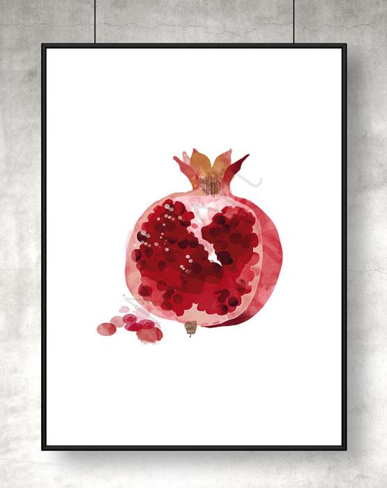 Poster granatäpple. 159kr – 209kr. Poster på ett granatäpple i akvarell med klara  färger. Passar i alla hem ... 3738aa6ba7246